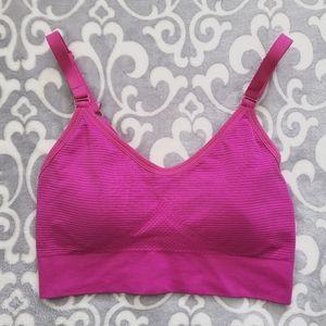 Diadora Sports bra, Fushia, Small